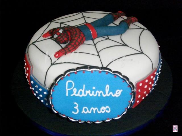 Bolo de aniversário tema ''Homem Aranha'' / Spider Man cake