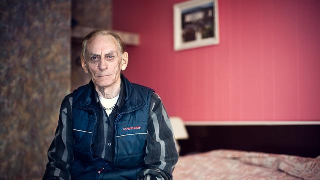 Hector 77 ans, propriétaire du Môtel Chantal, Godbout sur la côte-nord