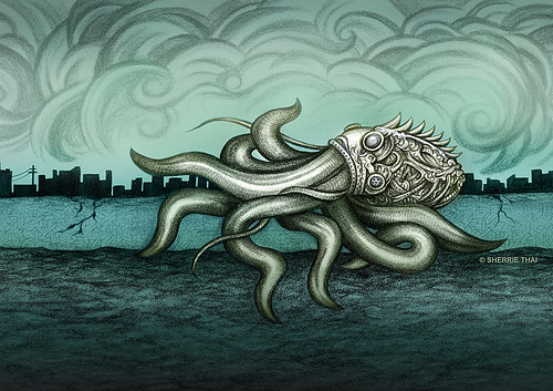 Inevitable Futures: Gasmask on the Octopus