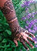 Arm Henna w Purple Flowers Volcano Henna By Melissa