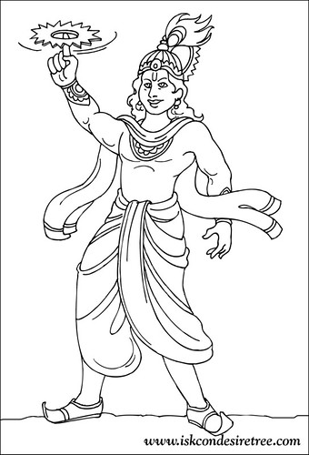 Radha Krishna Coloring Pages