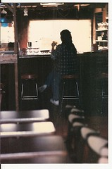 KANSAS CITY SNAPSHOTS 1980S-WOMAN HANGING OUT IN DOWNTOWN BAR, BEFORE SMOKING BAN TOOK AWAY FREEDOM TO SMOKE IN BARS