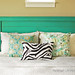 turquoise headboard by meringuedesigns