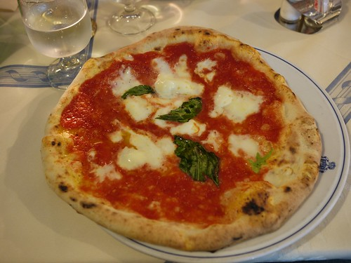 Margherita pizza at Pizzeria Brandi
