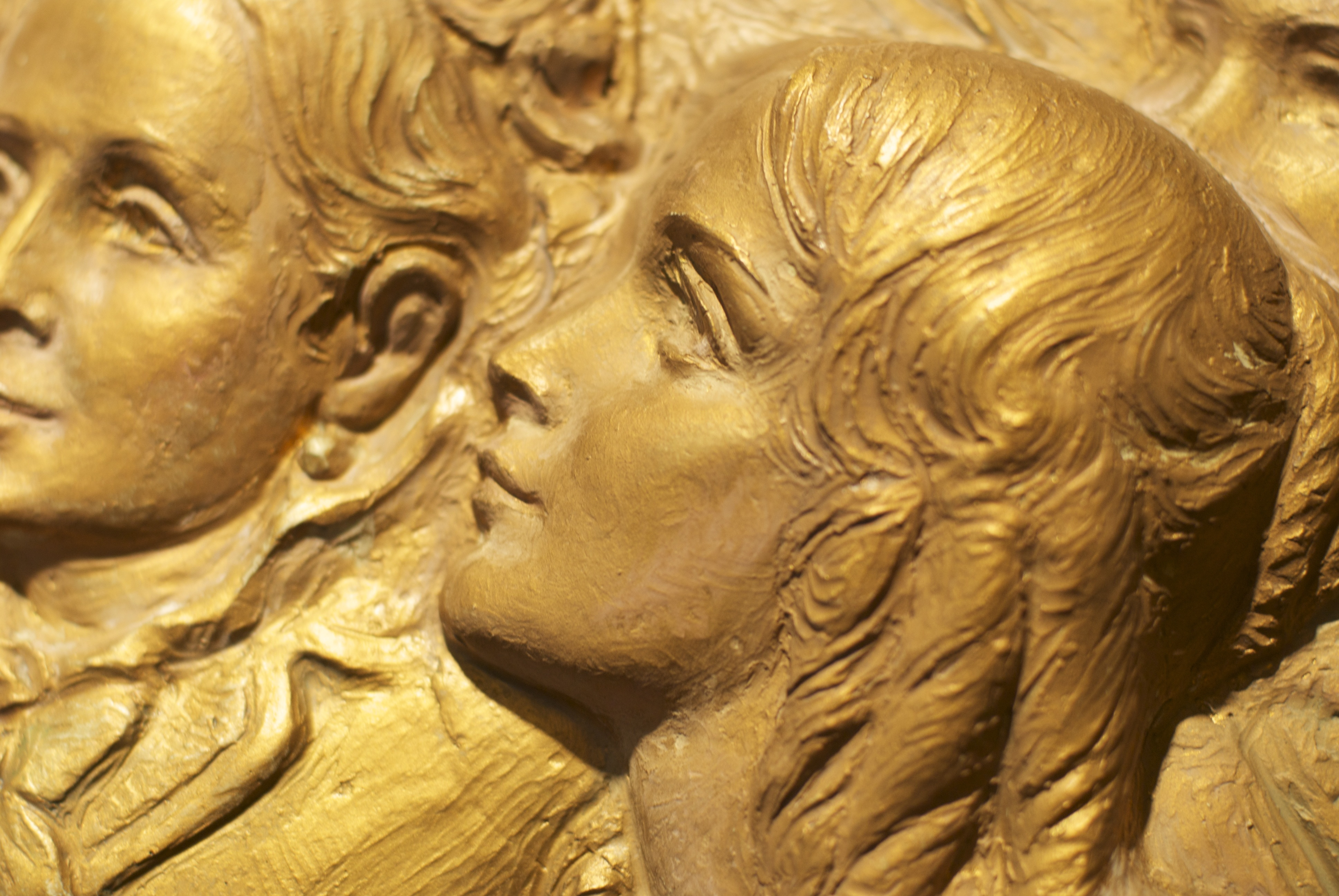 Detail of bas relief sculpted by Elaine Brockbank Evans, in the Berkeley Ward building, California.