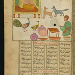 Illuminated Manuscript, Collection of poems (masnavi), A jackal in the company of other animals and birds, Walters Art Museum Ms. W.626, fol. 111a