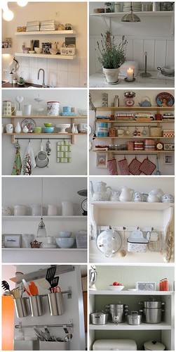 kitchen shelves inspiration: 4 different styles, choose yours