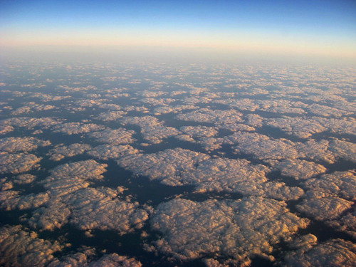 carpet of clouds - taken from aircraft window