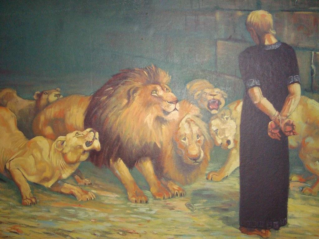 Daniel na cova dos leões quadro teteus seixas flickr