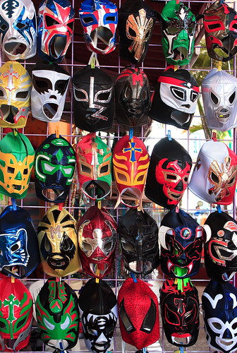Christine Zenino's photo of Lucha Libre masks.
