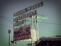 the wagon wheel sign