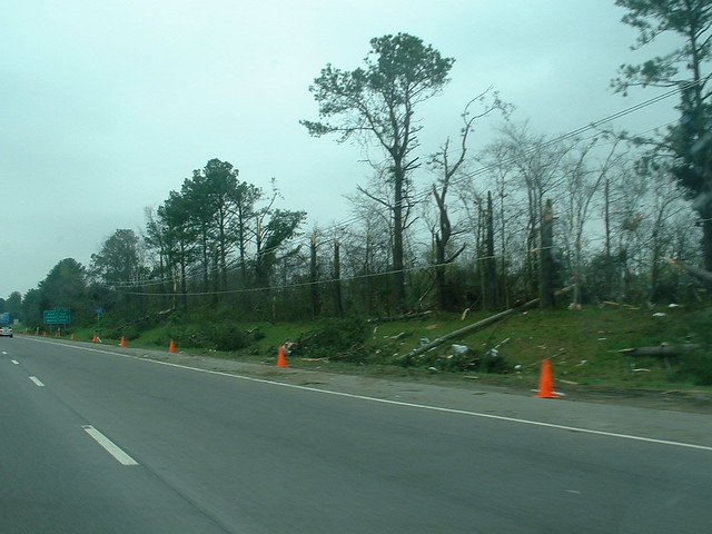 This is Where the Tornado Crossed the Interstate
