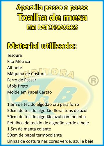 Material Utilizado by escoladearte.profissional