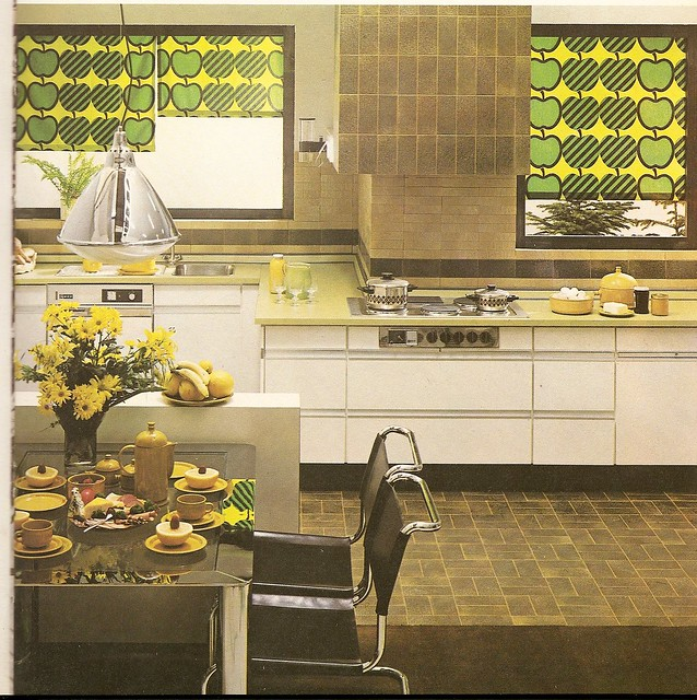 Seventies Kitchen With Apples