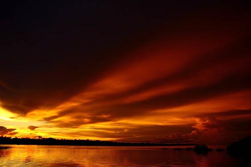 sunset pordosol red sky sun hot green sol rio yellow clouds river cores rojo amazon céu grandpa vermelho burning amarillo amarelo malu malugreen nuvens goodbye cor vô vovô amazonas rionegro adeus ´ jucafii2009bday