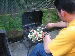 Veggie stir fry on the grill