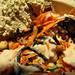 vegan salad featuring homemade hummus by shira and hijiki and peanuts by isaac