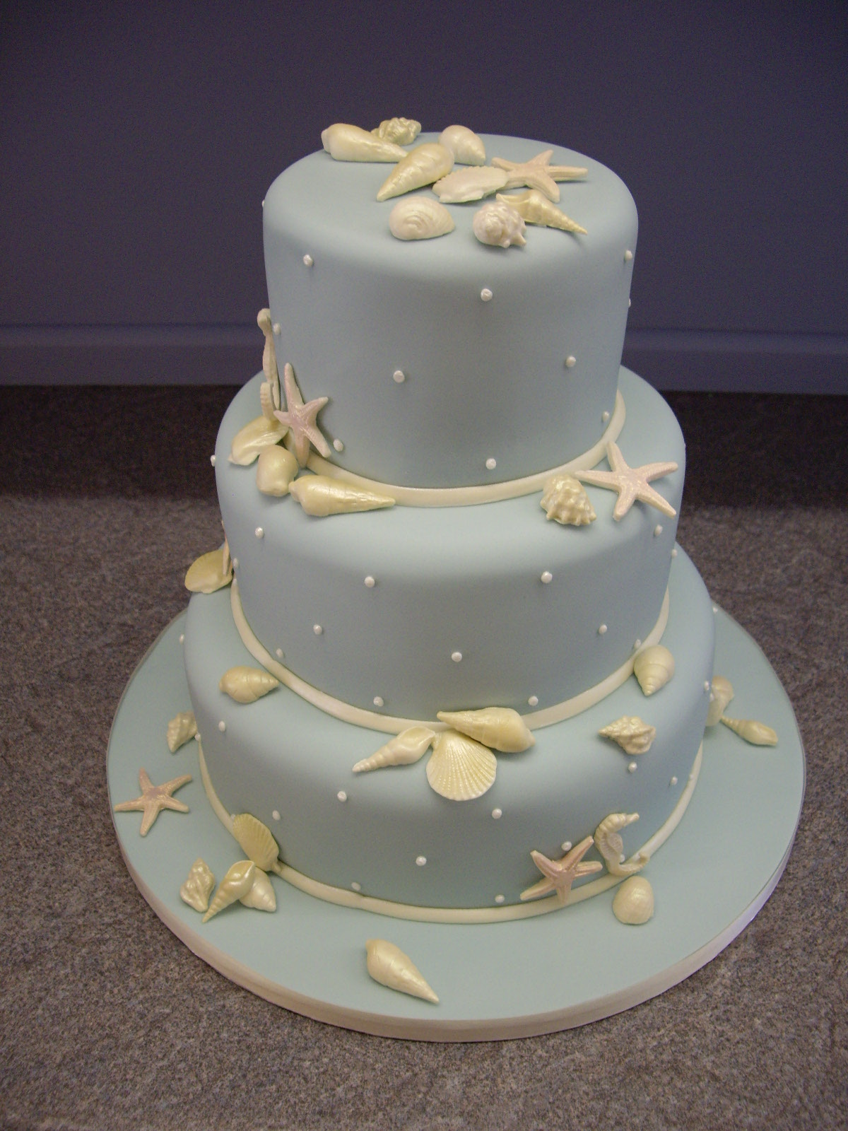 sea shell blue wedding cake flickr photo sharing. Black Bedroom Furniture Sets. Home Design Ideas