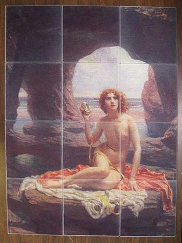 Tempered glass tile mural
