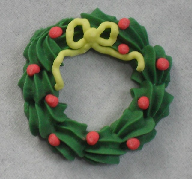 Royal Icing Christmas Wreath