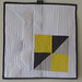 Yellow, Gray, & White Mini-Quilt