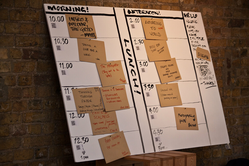 Papercamp schedule