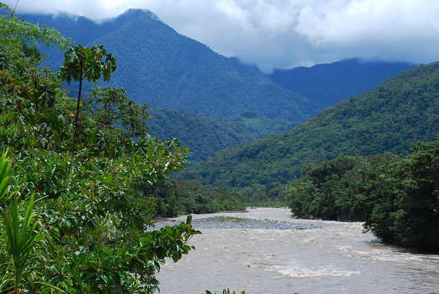 Mountains and rivers on the road to Puyo, Ecuador - Flickr CC maveric2003