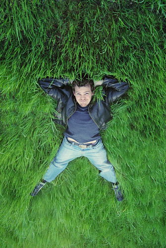 sun green grass leather kyle relax sunny jeans jacket 365 laying