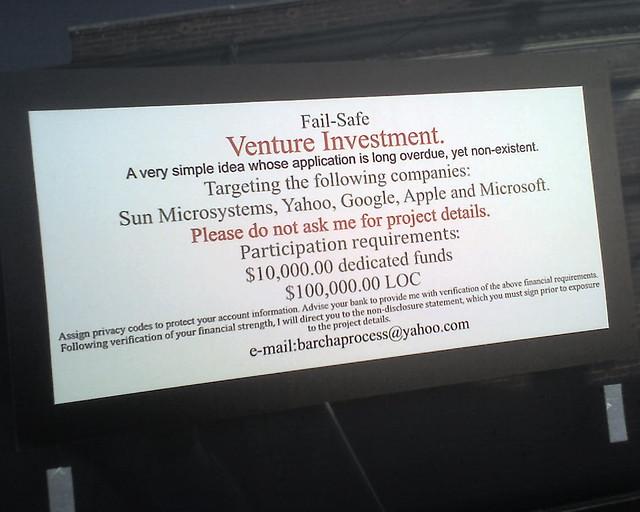 Fail-Safe Venture Investment