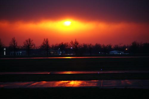 sunset orange clouds gold