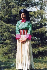 Pumi Woman Traditional Costume, China