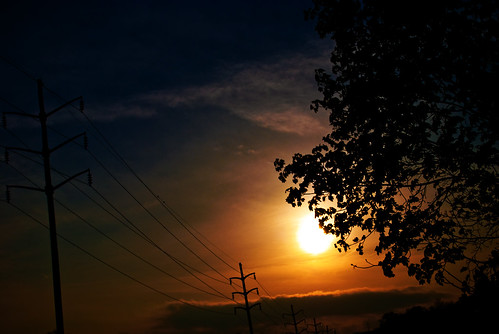 county sunset red orange tree by clouds drive nikon telephone central pole pa carlisle cumberland d60