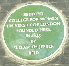Photo of Elizabeth Jesser Reid green plaque