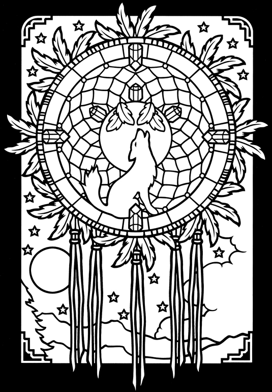 Dreamcatchers Stained Glass coloring book 2 - a photo on Flickriver