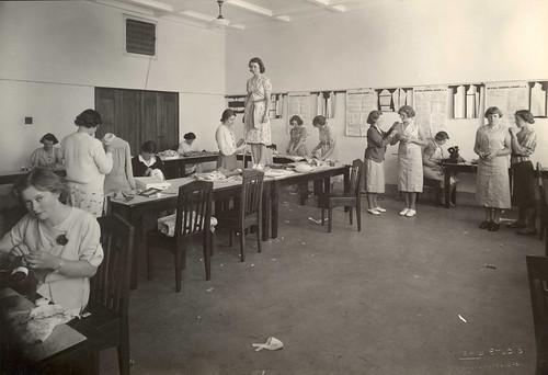 1940s-50s Women students - dress making
