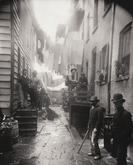 Bandit's Roost, New York, 1888, by Jacob A. Riis