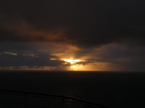 ocean cruise sunset sky clouds village olympus caribbean stkitts stchristopher sp570