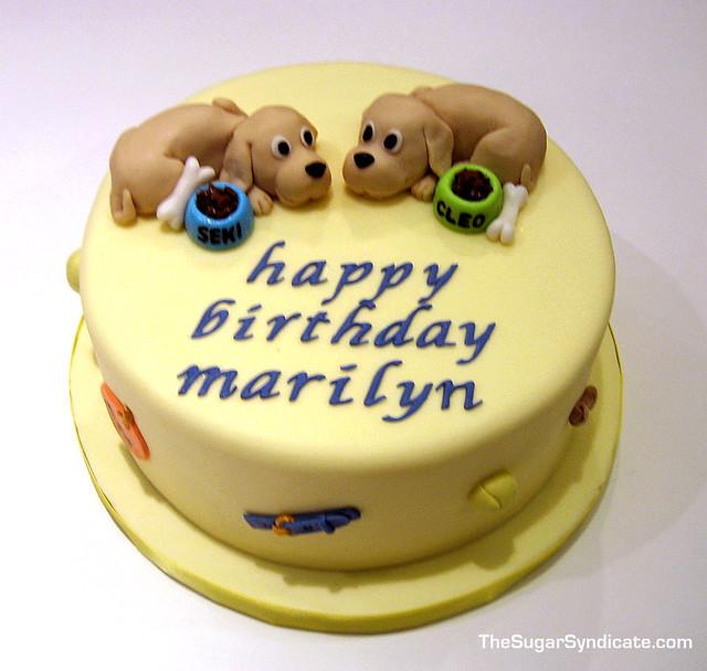 Happy Dogs Birthday Cake