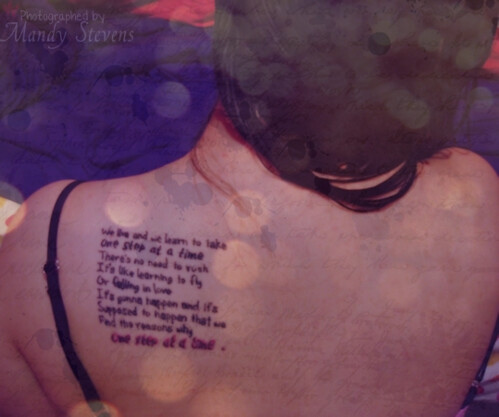 Tattoo for your side one step at a time tattoo for Jordin sparks tattoo song lyrics