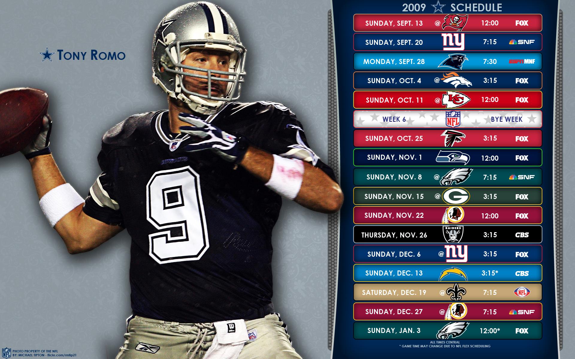 2009 Dallas Cowboys NFL Schedule Wallpaper | Explore ...