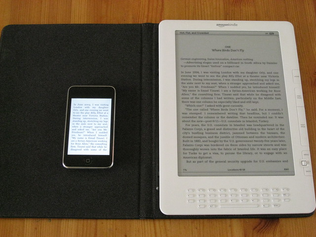 Kindle DX en iPod Touch