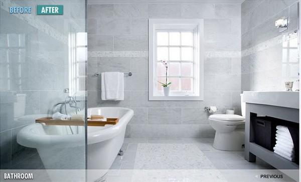 Gray Spa Bathroom
