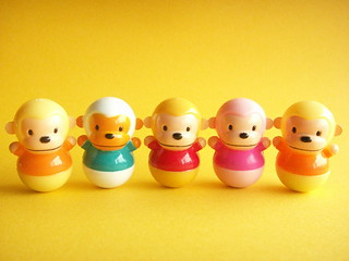 Kawaii Cute Baby Monkey Miniature Roly Poly Toy Collection