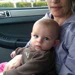 May 8th - In the car with Mama after stopping to eat during a long day of shopping on Mother's Day.