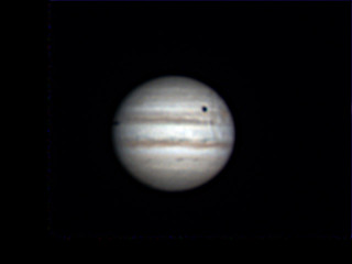 Start of Io's shadow crossing Jupiter