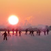 Let's ice skate to the sunset horizon by B℮n