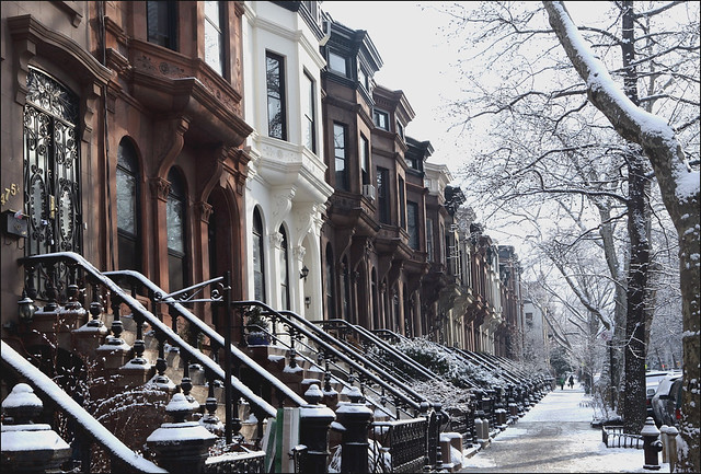 Brooklyn Brownstones In The Snow Flickr Photo Sharing