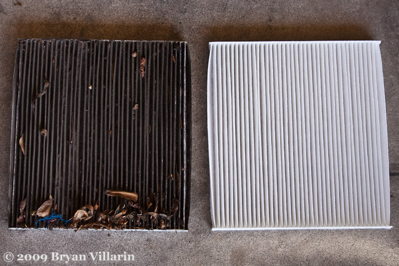 Air filter all narfed up for Change cabin air filter