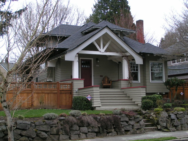 The daily bungalow dolph park neighborhood portland or flickr photo sharing - Arts and crafts exterior paint colors minimalist ...