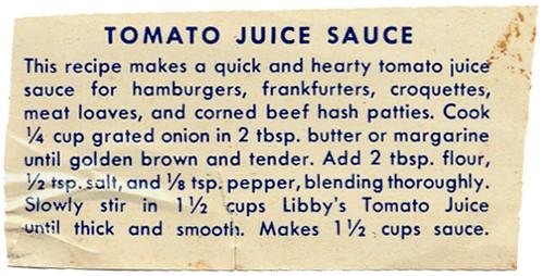 Sauce - Tomato Juice Sauce HM0047 by Eudaemonius